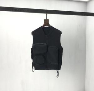 Homme Designers Vêtements Capuche Tactique Pull Tactical Vest Jumper Poches multiples Mens d'hiver Hommes Designers Designers Sweaters Hommes Vêtements Noir