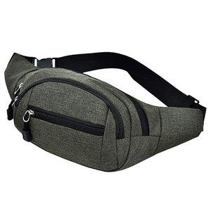 Leisure Waist Bag Women Belt Bag Men Fanny Pack Money Belt Men Purse Oxford Sport Fitness Waist Packs 2019 Newest Style