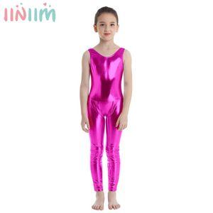 Kids Girls Sleeveless Shiny Costume Ballet Dance Gymnastics Leotard Unitard Dancewear Tutu Professional Ballet Tutu Ballerina
