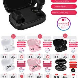 CXKW Новый QCY T1C Мини-Bluetooth Наушники для наушников MIC MIC Беспроводные наушники Спортивные шумоподавление с и зарядной коробкой BT 5.0 TWS Earbuds