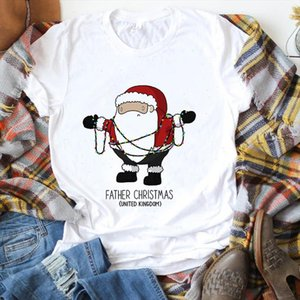 Suitable All Seasons New Cute Christmas Santa Claus T Shirt Women Fashion Harajuku Short Sleeve T Shirt Unisex Casual Clothes