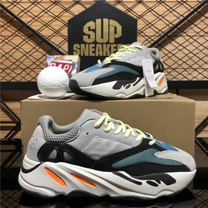 Top Quality Kanye West Shoes Shoes 700 V2 Inertia Riflettente Teephra Grey Grey Utility Black Vanta Uomo Donna Street Sneakers con scatola