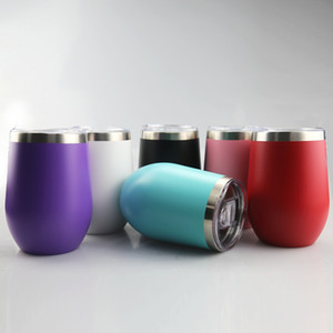 15oz Wine Tumbler Powder Coated Wine Glasses Stainless Steel Insulated Tumbler Coffee Mugs stemless Wine Glass For Wedding Christmas Gift