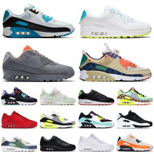 max 90 90s off white Top Quality Sport SIZE 12 Chaussures de tennis pour hommes 2021 Trail Team Grey Worldwide Blanc Femmes Classic Cushion Trainers Sneakers EUR 46