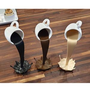 Плавающая разливка Кофейная Кубок Скульптура Кухня Декор Разливание Волшебное наливание всплеска
