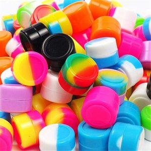 Reusable Round Non-stick 5ml Silicone Jar Container For E-cig Wax Bho Oil Butane Vaporizer Silicon Jars Dab Wax Container silicone bubbler