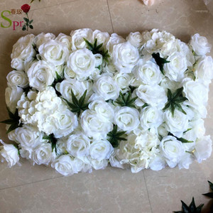 SPR higher quality 3D ROSE flower wall PANELS 24pcs lot wedding backdrop artificial flower party events table runner centerpiece1