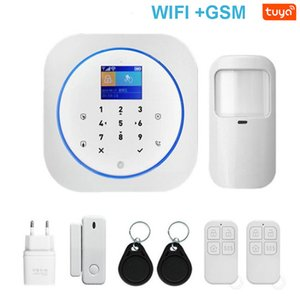 Smart WIFI GSM Home Security Alarm System with Touch Keyboard & Wireless IP Video Camera & Tuya Alexa Google Home APP Control Y1201