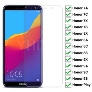 9H Full Cover Protective Glass For Huawei Honor 8X 8A 8C 8S Tempered Glass Honor 7A 7C 7X 7S 9X 9A 9C 9S Play Screen Protector