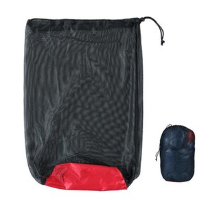 Outdoor Mesh Bag Compression Sack Clothing Sundries Drawstring Storage Pouch Camping Equipment