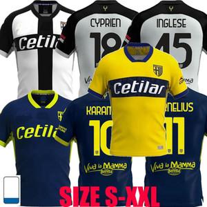 20 21 Parma Calcio Mailoots de Foot Soccer Jersey Grassi Kucka Inglese Karamoh Cornelius Home Over 3 2020 2021 футбольная футболка S-2XL