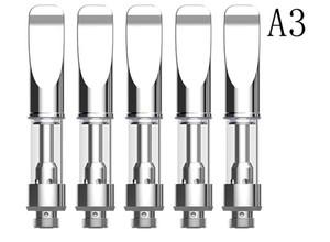 dual coil wax oil cartridge 510 thread atomizer bud pen mini A3 atomizer open vape co2 oil vaping tank pyrex glass vaporizer no leaking