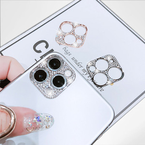 Diamond Cell Phone Camera Protector For iPhone 12 MINI PRO MAX Ultra Thin Shiny Len Cover For iPhone 11 Pro Max