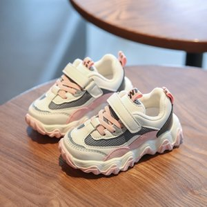 2020 New Autumn Kids Breathable Boys Girls Sport Children Casual Sneakers Baby Running Mesh Canvas Shoes Q1123