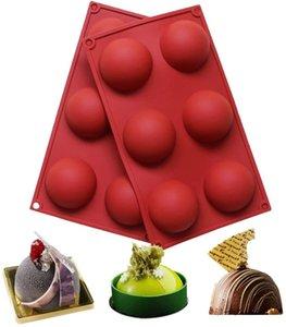 케이크 과자에 대 한 볼 구 실리콘 금형 베이킹 초콜릿 캔디 퐁당 bakeware 라운드 모양 디저트 곰팡이 DIY 장식 fwe3152