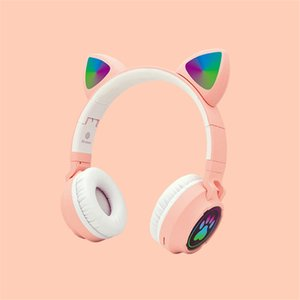 New Product B30 Cute Girl Wireless Bluetooth Headphone V5.0 EDR Cat Ear Cat Claw Headset with Mic LED Light Effect Support TF Card