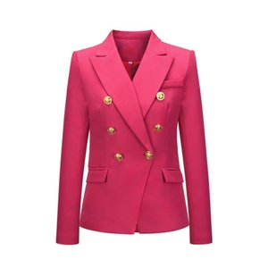New Style Women's Coat Autumn and Winter 2020 Blazer Thousand Bird Grid Suit Fashion Short Double Breasted Coat Blazer Women