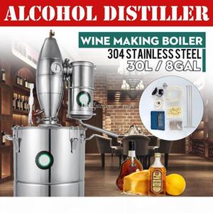 Alkohol PURE TWE Essential Oil Britiller Home Brew Wine Machen Kessel Kleine Destillationsgeräte Alkohol Brennerei