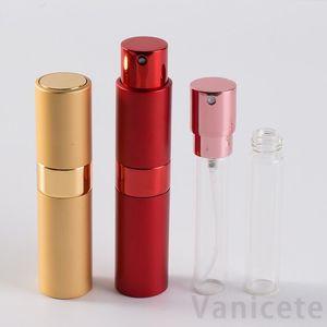 8ml Mini Spray Perfume Bottle Portable Aluminum Perfume Bottles Atomizer 8ml Travel Refillable Empty Cosmetic Container 400pcs T1I3237