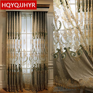 European style  embroidered villa curtain royal high quality classic elegant curtain for bedroom hotel kitchen living room