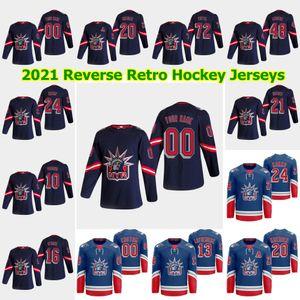 NUEVA YORK RANGERS 2021 Retro Retro Hockey Jerseys Kaapo Kakko Mats Zuccarello Brendan Lemieux Lias Andersson Pavel Buchnevich Puntada Personalizada