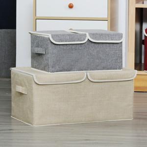 Storage Box Double lid Folding Multi-purpose Clothes Toy Book Debris Organizer Home Wardrobe underwear Storage Box Z1123