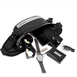 Anti theft Male Belt Close Fitting Waist Bags Multi Functional Hip Bum Reflective Strip Shoulder Bag Men Nylon Fanny Chest Pack