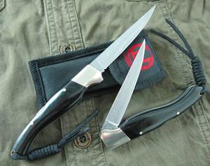 Yeni 7.5 inç Şam Cep Katlanır Bıçak VG10 Şam Çelik Bıçak Abanoz + Naylon Çanta Ile Pirinç Baş Kolu EDC Bıçaklar