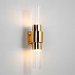 Modern Wall Lamp Bedside LED Wall Light Creative Glass Lampshade sconce For Hotel Villa Bedroom Living Room Lustre Lighting