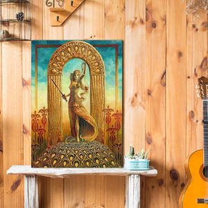 Large Art Picture Canvas Printed Painting Modern Justice Tarot Card Art Poster Wall Art Poster for Living Room Décor