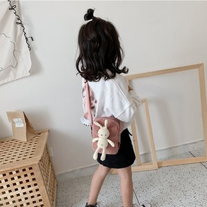 Kids Messenger Bag Bunny Corduroy Small Cloth Bag Little Girl Shoulder Bag Cute Fashion Princess Small New Year Greeting