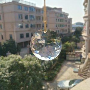 1pc Suncatcher 45mm Prism Verre Art Sun Charme Pendentif rond Suspendre H Lampe Crystal Partie Bling DIY Accueil Décor Drop Jluai Atsak