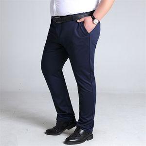 Binhiiro Plus Size Pantaloni da uomo Stile britannico Micro-elastici Pantaloni casual da uomo Autunno Slim Fashion Suit Suit Suit Pantaloni maschio 8XL 10XL Y200114