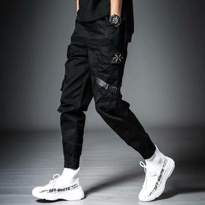 Diseñador de moda Streetwear Mens Multi Bolsets Cargo Harem Pantalones Hip Hop Casual Hombre Pantalones Pantalones Juggers Pantalones Moda Harajuku Hombres Pantalones