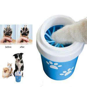 Coupe de Nettoyante de chien de chien pour petits grands chiens Pet Pieds Pet Lave-linge Portable Pet Cat Dirty Paw Couve-Tasse Soft Silicone Foot Wash Outil