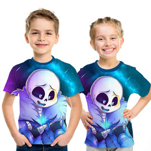 Undertale sans Anime Cartoon t-shirt 2019 summer New game Children t shirt 3D Printed Short sleeve kids t-shirts boys girl funny Q1203