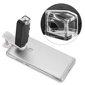 2021 Mobile Phone Lens 60X-100X Optical Zoom LED Microscope Lens Clip Universal Free Shipping