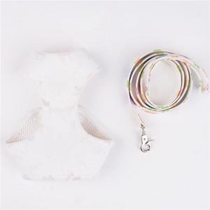 Luxurys Pet Collar Chain Cachorrinho Bonito Arnês de Animal de Estimação Para Colar De Cão Pequeno e Coleira Conjuntos Grande Cão Vest Tracção Corda Estilo De Couro