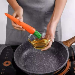 Kitchen barbecue material brush carrot silicone oil brush heat resistant barbecue baking