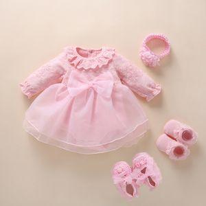 New Born baby girl clothes&dresses cotton princess style baby baptism dress 2019 infant christening dress vestidos 0 3 6 months Q1223