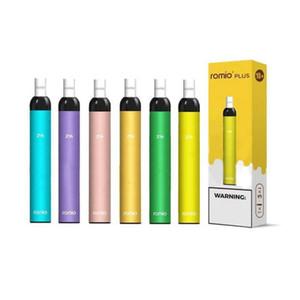 Romio Plus 600 Puffs Visable Vape Cigarette électronique 1 Device 3 Cartruregs changeable 18 couleurs jetables E cigarette électronique