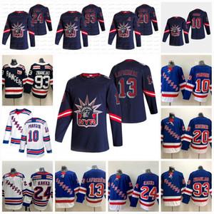 13 Alexis Lafreniere New York Rangers 2021 عكس الرجعية Kaapo Kakko Artemi Panarin Mika Zibanejad Wayne Gretzky Messier Jersey في المخزون