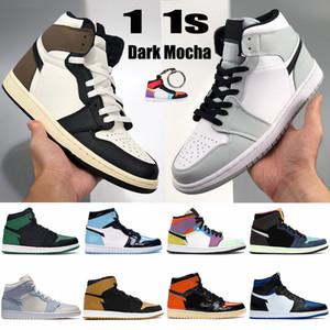 Новые 1 1 1 jumpman мужские баскетбольные туфли темные мокко токио Био взломать средний светлый дым серый чикаго ноги unc мужские кроссовки кроссовки