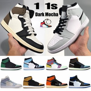 Nouveau 1S 1S Jumpman Hommes Chaussures de basketball Dark Mocha Tokyo Bio Bio Hack Hack Hack Smoke Grey Smoke Grey Chicago Toe Toe Unc Mens Entraîneurs Femmes Sneakers