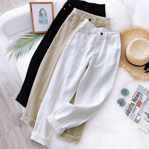 S-XXL Spring Automne High Taille Femmes Pantalons Harem Pantalon Harem Solide Pantalon Pantalon Casual Workwear Carrot Coton Pants