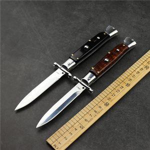 Новый 9-дюймовый мафиозный складной нож Открытый кемпинг Tactical Defense Нож 440C Стальная змея ручка высокой твердости Shark EDC охотничий нож