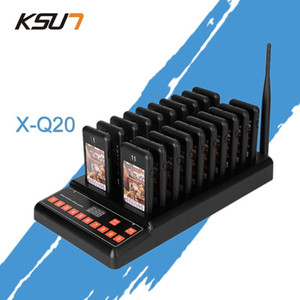 Ksun T-Q20 Restaurant Pager Wireless Paging Paging System 16 Llamar Pagers 999 canales Servicios de restaurantes Transceptor