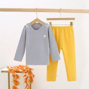 Children's Suit Pure Boy's Underwear Boy Pajamas in Big Kid Cotton Lycra Thermal Clothes Hi9