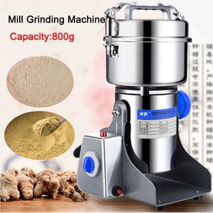 DHL FREE 800G Caffè Secco Cibi per secco Grinder Mill Grinder Macchina Gristmill Home Medicina Medicina Farina Polvere Polvere Crains