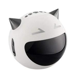Portable Wireless Buletooth Speaker M8 Devil Heavy Bass Karaoke Speaker Support Singing Radio Alarm Clock Sound-White